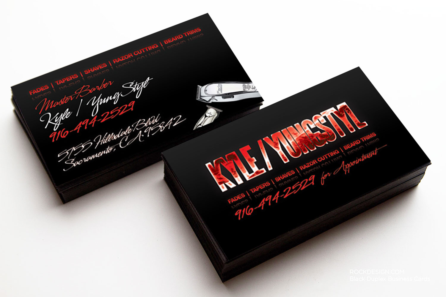 Barber Business Cards Viewing Gallery